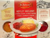 Kotlet mielony z burakami/ puree 400g